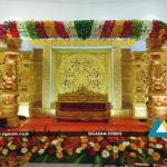 Reception decoration Golden theme at NT Mahal, Pondicherry