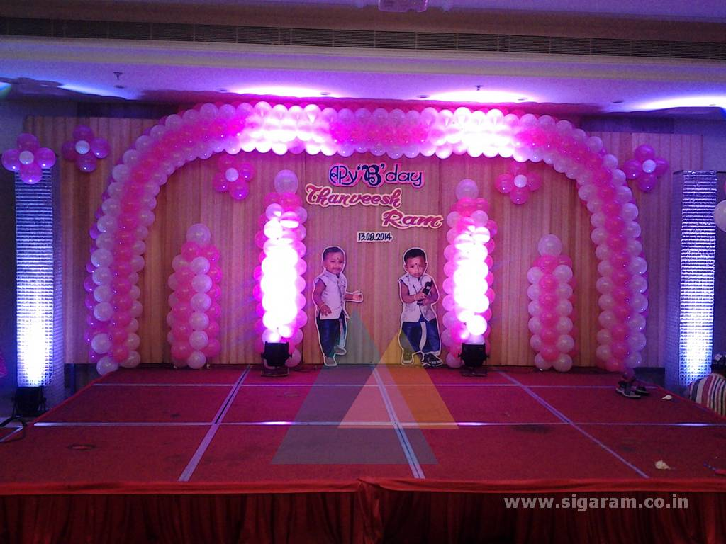 Birthday decoration accord hotel pondicherry event for 1 birthday decoration images