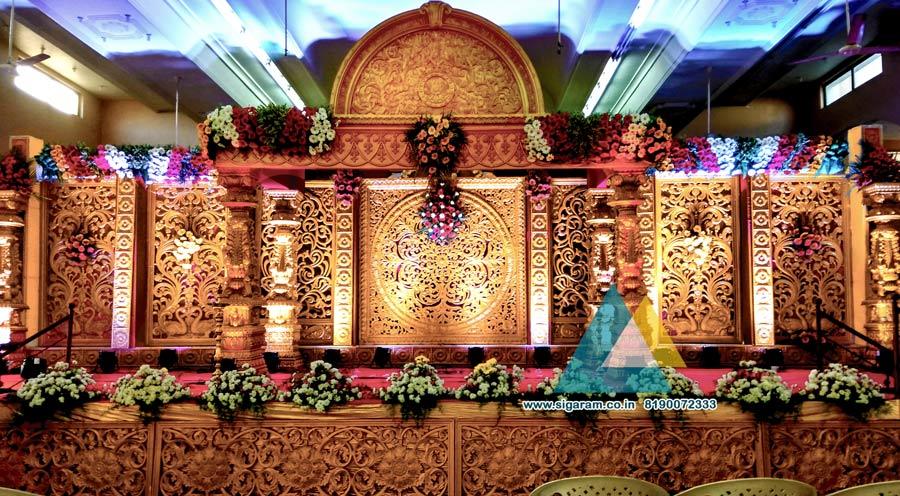 Grand Wedding Stage Decoration @ Sri Subhalakshmi Mahal, Pondicherry