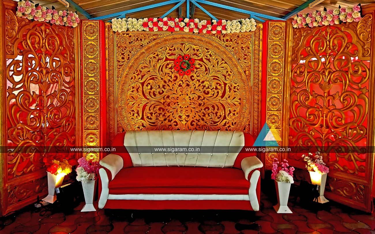 Wedding planners event management company in pondicherry for Marriage decoration photos