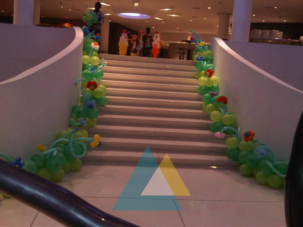 Birthday party decorators in pondicherry chennai for Balloon decoration instructions