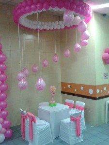 Round table single Seating balloon top decoration