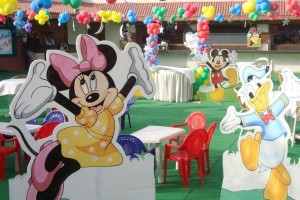 Mickey and Minnie Mouse Themed Outdoor Birthday Decoration