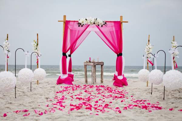 Beach wedding planners and decorators in pondicherry chennai wedding arches junglespirit Image collections
