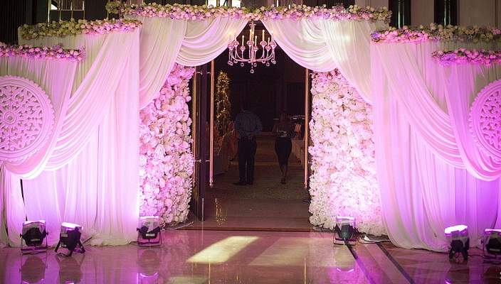 South Asian Wedding Reception Stage Decor