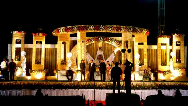 Wedding reception decorators in pondicherry chennai tamilnadu outdoor decorations wedding receptions junglespirit Gallery