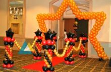 Birthday Star Themed Entrance Decoration