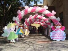Pink themed Entrance Arch Decoration