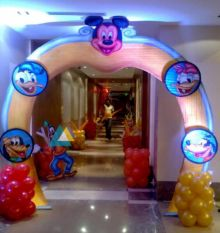 Mickey Mouse Themed Birthday Entrance