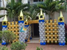 Castle Themed Birthday Party Entrance Decoration