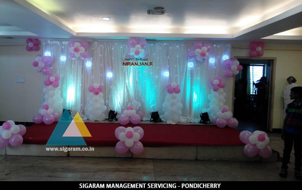 Birthday party decorators in pondicherry chennai for 21st birthday hall decoration ideas