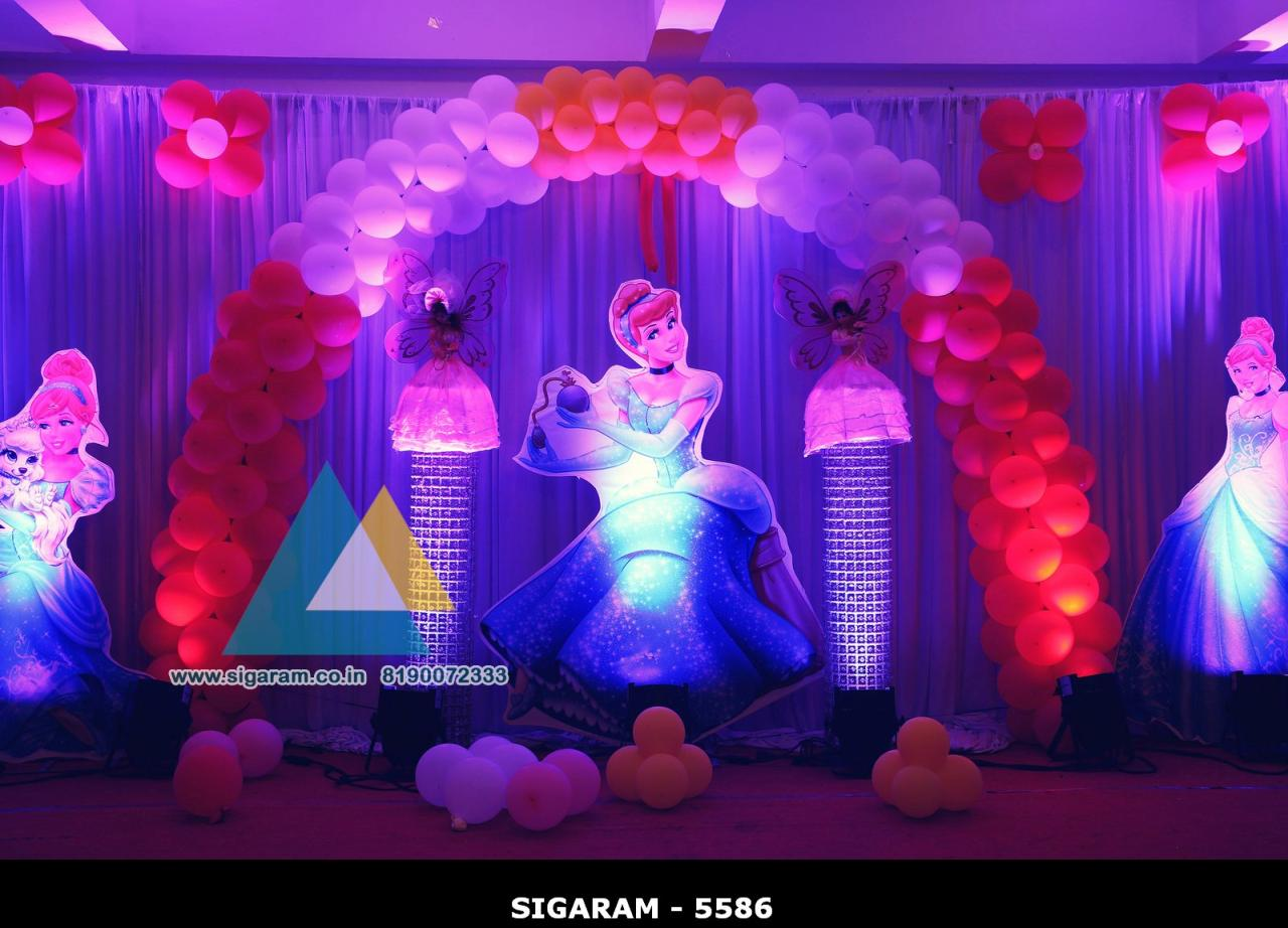 Birthday party decorators in pondicherry chennai for Balloon decoration in coimbatore