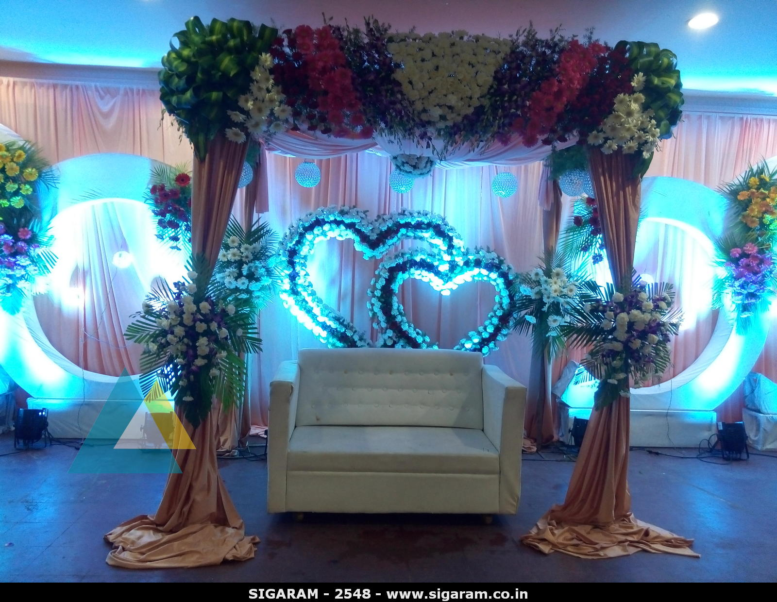 wedding decoration sites wedding reception decoration at subalakshmi thirumana 9068