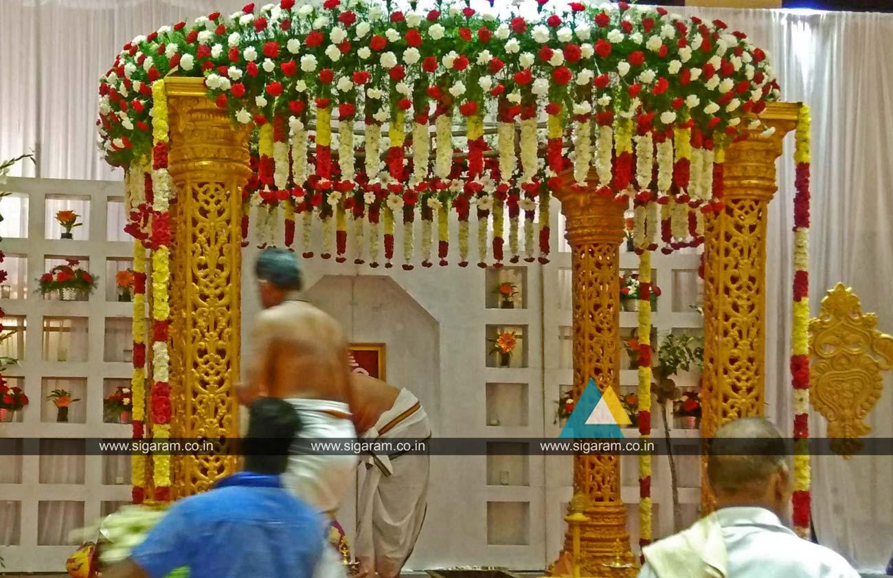 Wedding Stage Decoration At Anandha Inn Pondicherry Sigaram