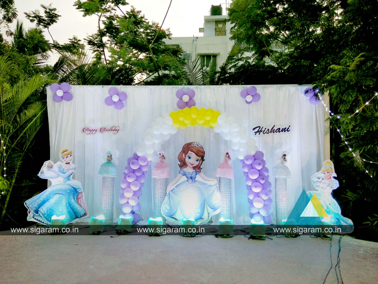 Outdoor Birthday Party Decoration At Hotel Bonsejour Pondicherry